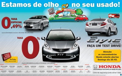 Anúncio Cooperado Honda